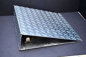 Metal Pollished Aluminum 3 Ring Binder Notebook Diamond Plate Shop Industrial