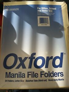 Esselte Oxford Manila Letter Size File Folders