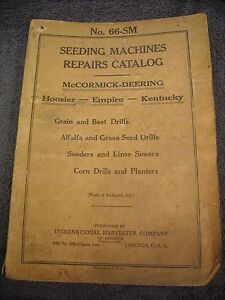 1926 No 66 sm Mccormick Deering Seeding Machines Parts Manual Drill Sow Planter