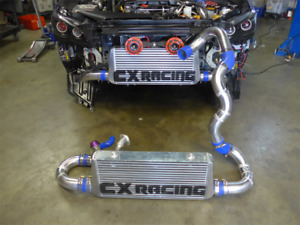 Cx Front Mount Intercooler Bov Kit For 2014 Subaru Wrx Fa20dit Turbo Black