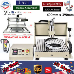 4 Axis 6040 Router Cnc Engraver Cutter Machine1 5kw 3 Axis 2417 Laser Control
