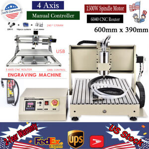 4 Axis Cnc 6040 Router Engraver Cutter Machine1 5kw 3 Axis 2417 Laser Control