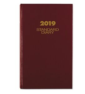 At a glance Standard Diary Daily Diary Red Cover 8 625 X 13 75 2019