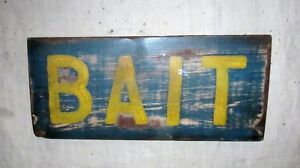 Hand Painted Sign Bait