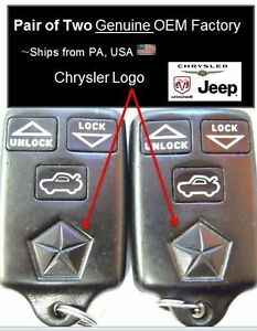 Keyless Remote Controls Town And Country Entry Fob Transmitters Keyfobs Program