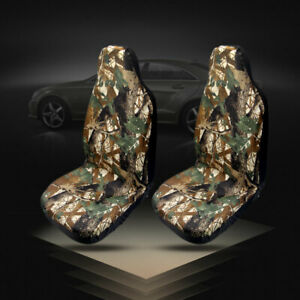 2x Camo Bucket Seat Covers Camouflage Universal Car Truck Silverado F150 Ram1500