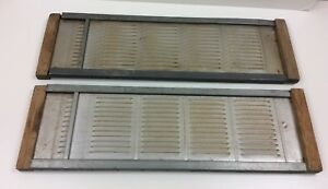 2 Old Wood Framed Weathered Marvin Expanding Window Vent Screens 7 X 22 36