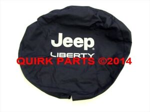 New Oem Mopar 02 05 Liberty Black Denim Silver Lettering Spare Tire Cover Genuin