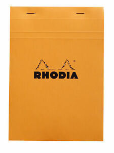 Rhodia Staplebound Notebook 6 X 8 Graph Paper Orange