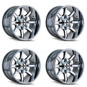 20x9 Cali Off road Busted 5x5 5 5x139 7 0 Pvd Wheels Rims Set 4