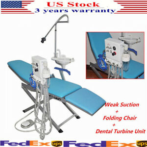 Dental Chair Unit With Flushing Water Supply System And Led Light Turbine Unit