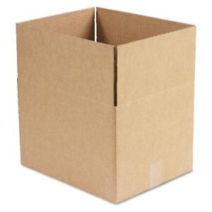 General Supply Brown Corrugated Fixed depth Shipping Boxes 15l X 12w X 10h 2