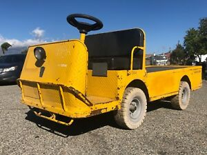 2013 Taylor Dunn B2 48 Industrial Flatbed Electric Utility Cart Solid Tires