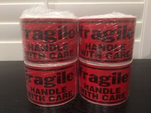 1000 Large 3x5 fragile Handle With Care Stickers 4 rolls 250 Labels