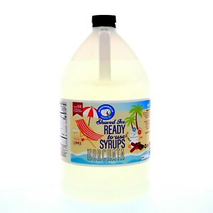 Snow Cone Or Hawaiian Shaved Ice Horchata Flavored Syrup Ready To Use Gallon