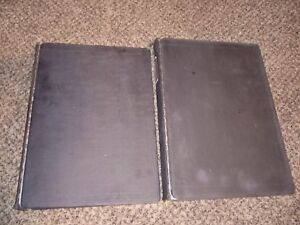 Lot Of 2 Vintage Boorum Pease Ring Book Binder v3 With Indexes