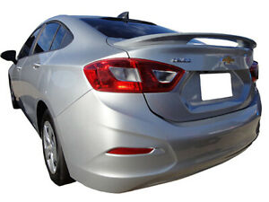 Rear 2 Post Spoiler Painted Fits 2016 2017 Chevrolet Cruze 4 Door