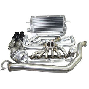 Top Mount Turbo Intercooler Kit For 1986 1992 Toyota Supra Mk3 7mgte