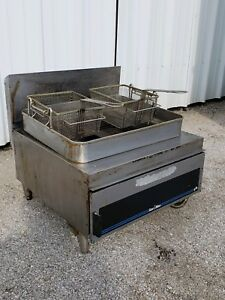 Star Max 630fd Commercial Countertop Twin 2 Basket Gas Deep Fryer W 30lb Vat Ng