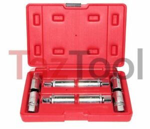 8 Pc Socket Stud Screw Extractor Remover Installer Metric Sae Roller Grip Type