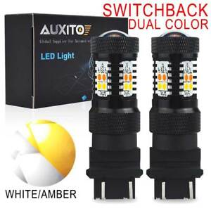 2x 4157na 3157 Led Switchback Bulbs White Yellow Signal Parking Light For Toyota