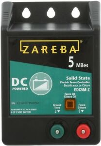 Zareba Fence Charger 5 miles Electric Wire Fencing Coverage Battery Operated