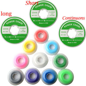 10roll set Dental Orthodontic Elastic Power Chain Short long continuous 15 Feet