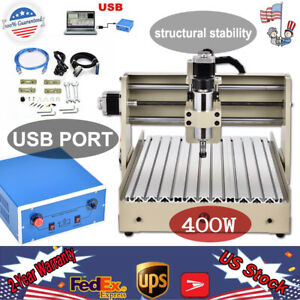 Usb 4 Axis 400w Vfd Cnc 3040 Router Engraving Machine Drill Mill Desktop Cutter