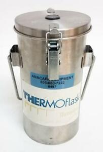 Thermolyne Thermo flask 1 L Dewar Benchtop Liquid Nitrogen Container 2122 6497