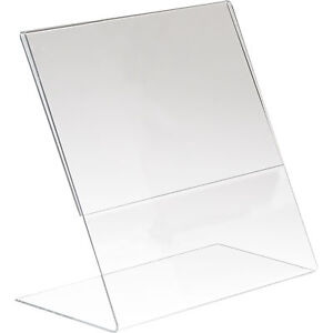 Econoco Acrylic Bottom load Counter top Sign Holder Clear 8 1 2inwx11inh