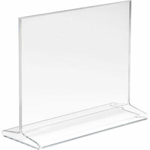 Econoco Acrylic Top Load Sign Holder 7in w X 5 1 2in h Model hpct57htp