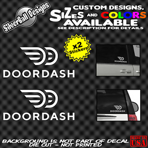 Doordash Old Custom Vinyl Decal Sticker Car Truck Window Sign Grubhub Delivery