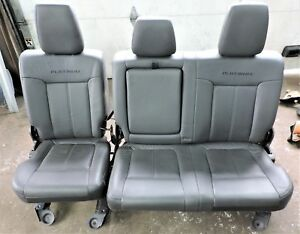 2011 2016 Ford Super Duty Platinuim Edition Leather Rear Seat F250 F350 F450