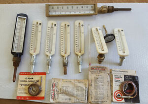 10 Industrial Thermometers Taylor Weksler Usg 4 Honeywell Thermocouple Steampunk