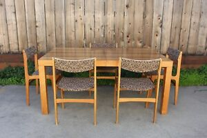 Mid Century Dining Kitchen Table By Dyrlund Table Only