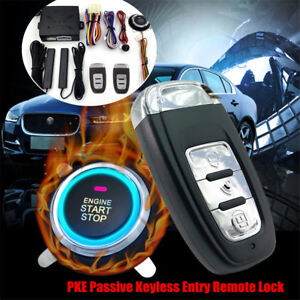 Car Security Alarm Smart System Set Intelligent Pke One Key To Start The System