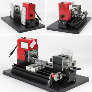 Usa Diy Mini Lathe Wood Metal Motorized Machine Woodworking Hobby Model Making