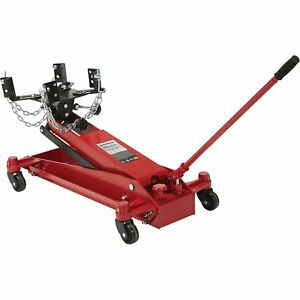 Strongway Hydraulic Low Profile Transmission Jack 1 Ton Capacity