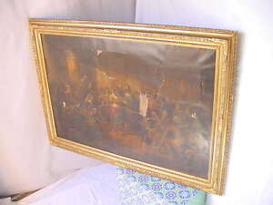 Antique Large Ornate Gesso Trim Painting Or Picture Frame Vintage 41x29 Nice