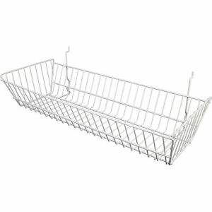 Econoco Multi fit Double Slope Basket For Slatwall Grid pegboard 24inwx10indx5in