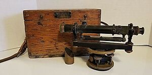 K E Keuffel Esser Surveying Transit Optical Level Scope W Wood Case 5110