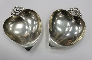 Pair Of Tiffany Co Sterling Silver Small Candy Nut Dishes