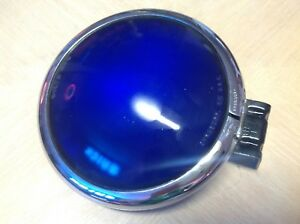 Vintage Blue Emergency Light Fire Rescue Dietz 475 Glass Lens Early Truck Nos