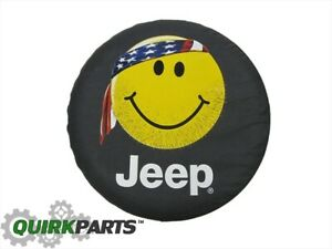 New Oem Mopar 2004 2007 Liberty Smiley Face Spare Tire Cover 82208685ad Genuine
