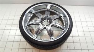 24 Inch 24x9 Devino Chrome Rim Wheel W Tire 4236