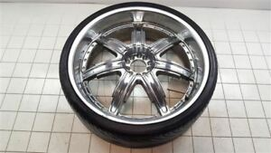 24 Inch 24x9 Devino Chrome Rim Wheel W Tire 4237
