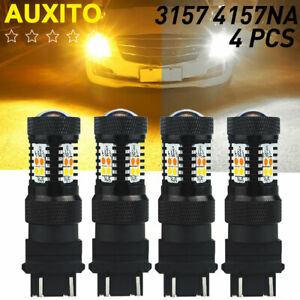 4x 3157 3457 4157na White Amber Switchback Led Signal Parking Drl Light Bulb 16a