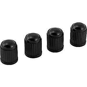4 Pack Universal Valve Caps With Schrader Valves Black Plastic Usa Shipped
