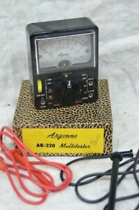 Vintage Argonne Ar 320 Multi tester Meter Ohm Ac dc Japan In Box Ar320