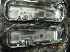 Valve Covers Big Block Chevy Triple Chrome Plated W Oil Drippers 454 396 9503 1